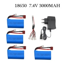 7.4V 3000MAH lipo Battery 18650 for Q46 Wltoys 10428 /12428/12423 RC Car Spare Parts Accessories For