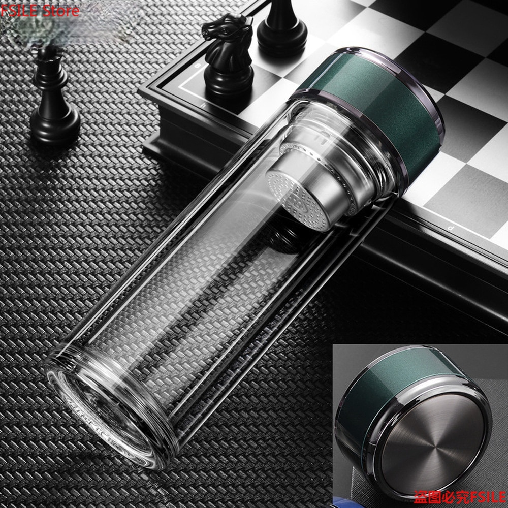 300ml New Double-layer Glass High Borosilicate Explosion-proof Water Cup Portable Gift Tea Cup Tea W