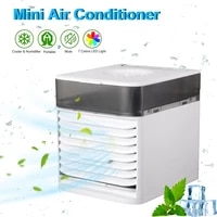mini air conditioner multifunctional cooling fan with uv sterilization humidifier fan for home bedroom office portable