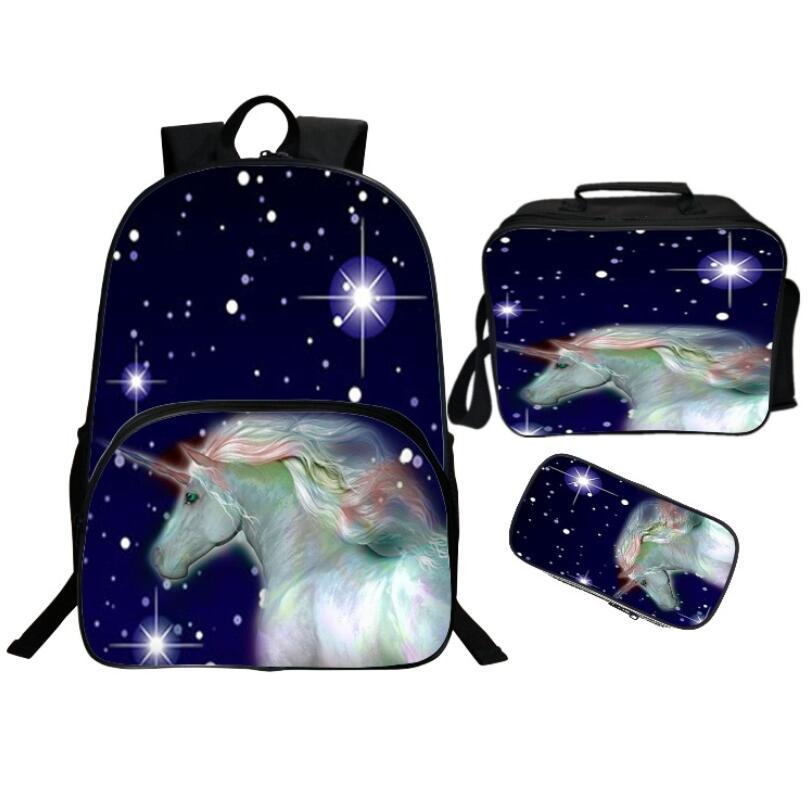 Mochila con estampado de unicornio en 3d, mochila escolar para niños y niñas, mochila escolar para niños, mochila para niños, mochila para libros, 16 pulgadas
