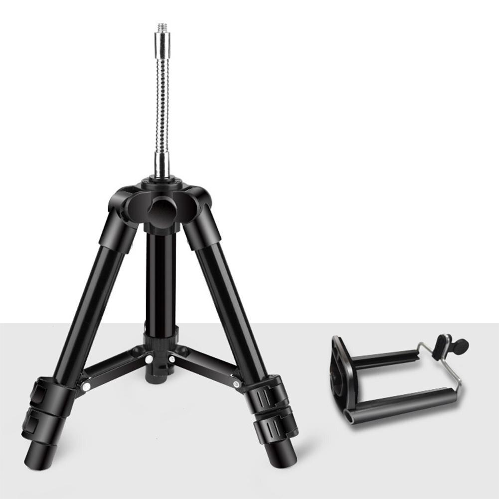 Yiwa Mini manguera Flexible de aleación de aluminio montaje de trípode para cámara teléfono fotografía pesca luz trípodes de la cámara