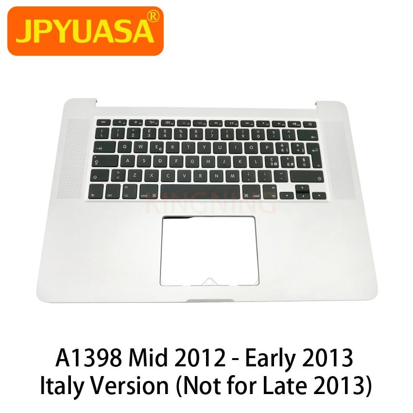 """Nueva funda superior Original con teclado de Italia para Macbook Pro Retina 15 """"A1398, Cubierta superior con reposamanos Mid 2012"""