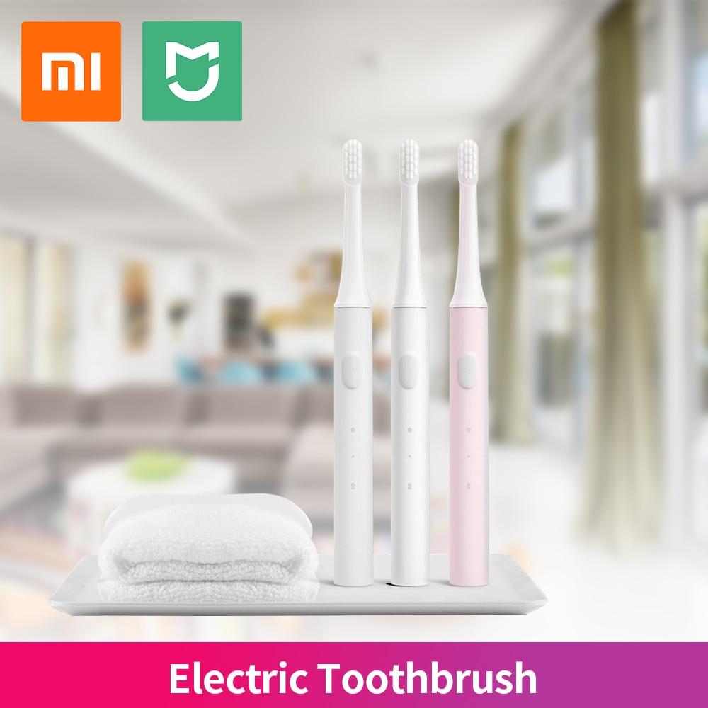 Original Xiaomi Mijia Sonic cepillo de dientes eléctrico adulto Mi T100 cepillo de dientes saludable IPX7 impermeable USB recargable pink bule whit