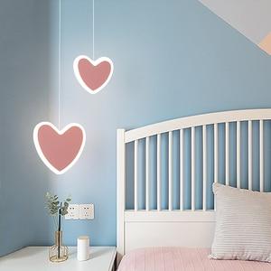 Modern LED bedside Pendant Lights for High Ceilings Bedroom Living room Table Pink White Pink Hanging Suspension Lamp Luminaire