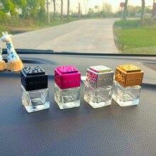 Automotive air freshener, elegant glass bottle, auto perfume, diffusion bottle, essential oil, perfu