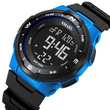 SMAEL Fashion Casual Men Watches Big Dial Men Sports Watches Men LED Digital Watches Mens Watches Re