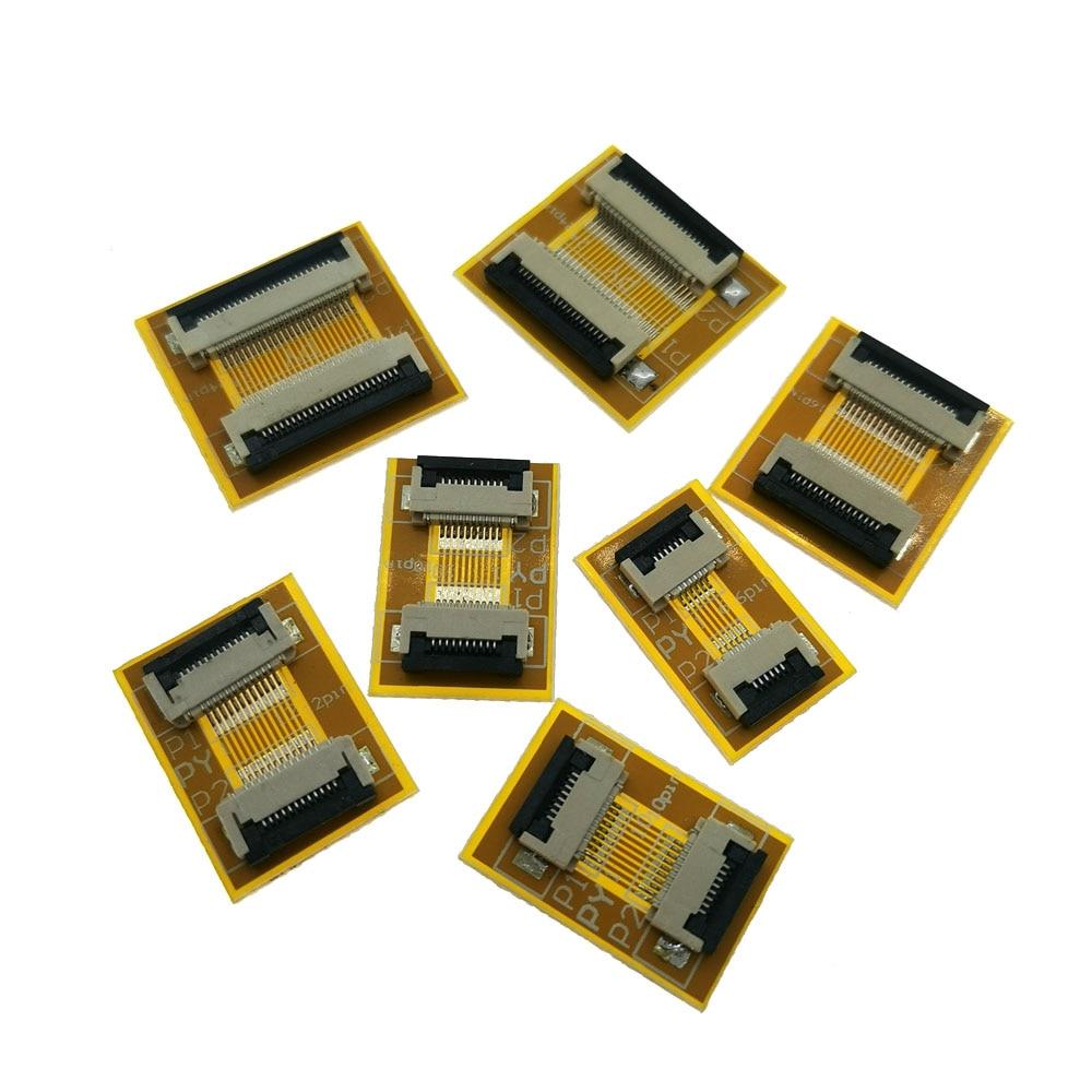 6Pin 10Pin 12Pin 20 Pin 30 Pin.... 0.5mm FPC/FFC PCB connector socket adapter board,6 Pin to 60 Pin flat cable extend