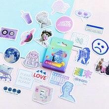 46 sztuk/pudło śliczne Vaporwave etykiety Kawaii pamiętnik ręcznie papier samoprzylepny płatek japonia naklejki Scrapbooking papiernicze piśmienne