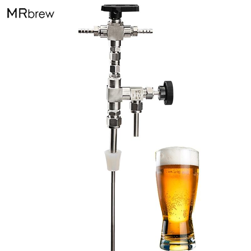 مسدس تعبئة زجاجات البيرة بالضغط ، درجة الطعام ، الفولاذ المقاوم للصدأ 304 ، عصا تعبئة البيرة والنبيذ ، أدوات تخمير المنزل
