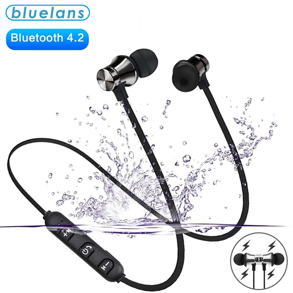 Magnetic Wireless bluetooth Earphone XT11 music headset Phone Neckband sport Earbuds Earphone with M