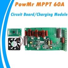 PowMr MPPT 60A controlador de placa de circuito impreso de carga y descarga Solar 12V 24V 36V 48V Módulo de carga automática con pantalla y ventilador DIY nuevo