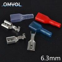 100pcs 6.3mm Crimp Terminal 50 Female Spade Connector with 50 Case