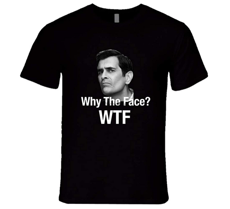 Phil dunphy por que o rosto wtf tshirt phil dunphy família moderna citar t camisa (2)