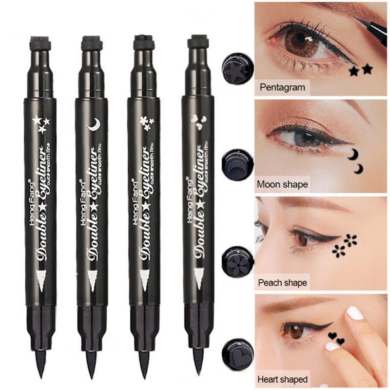 Dwustronny płynny Eyeliner ołówek długotrwały wodoodporny z tłoczeniem tatuażu Seal Eyeliner Pen makijaż przybory kosmetyczne TSLM1