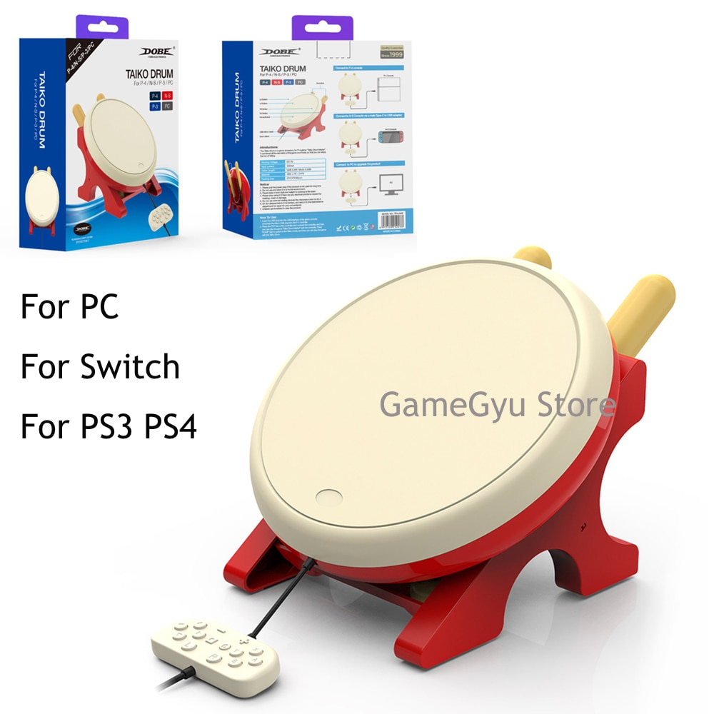 DOBE TV Kinect Gaming Drum For NS JoyCon Video Game Taiko Drum For PS3 PS4 PC Nintend Switch NX NS C