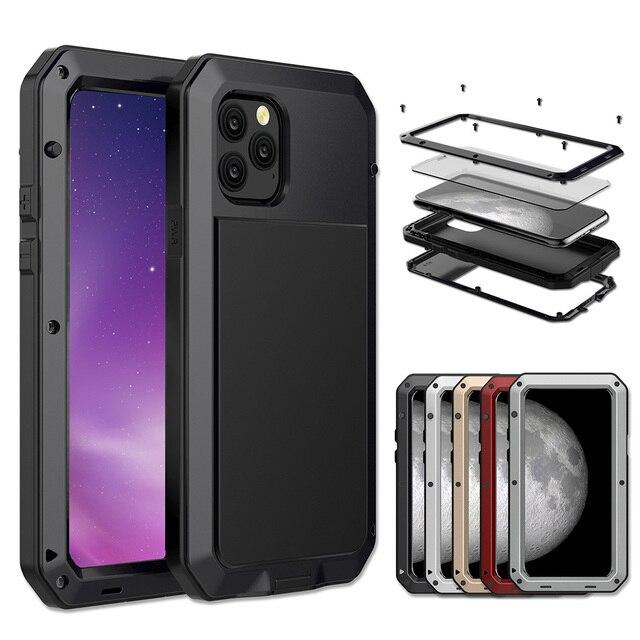 Роскошный металлический алюминиевый чехол с полной защитой 360 для телефона iPhone 12 Pro 12Mini 11Pro Max XS MAX XR X 6 6S 7 8 Plus, противоударный чехол