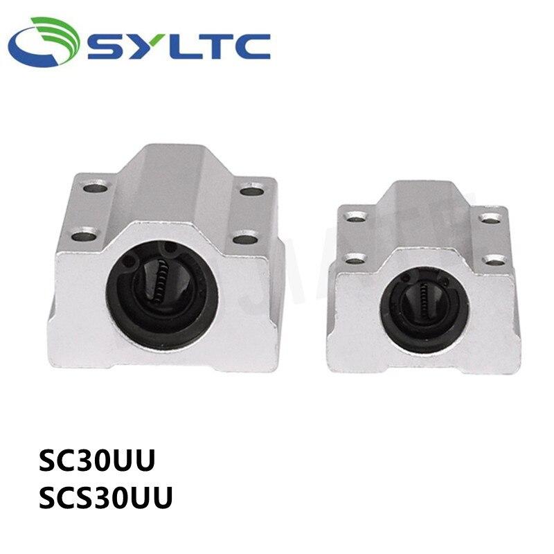 10 قطعة عالية الجودة SC30UU SCS30UU 30 مللي متر الخطي الكرة تحمل كتلة نك راوتر عمود خطي الكرة تحمل كتلة ثلاثية الأبعاد أجزاء الطابعة