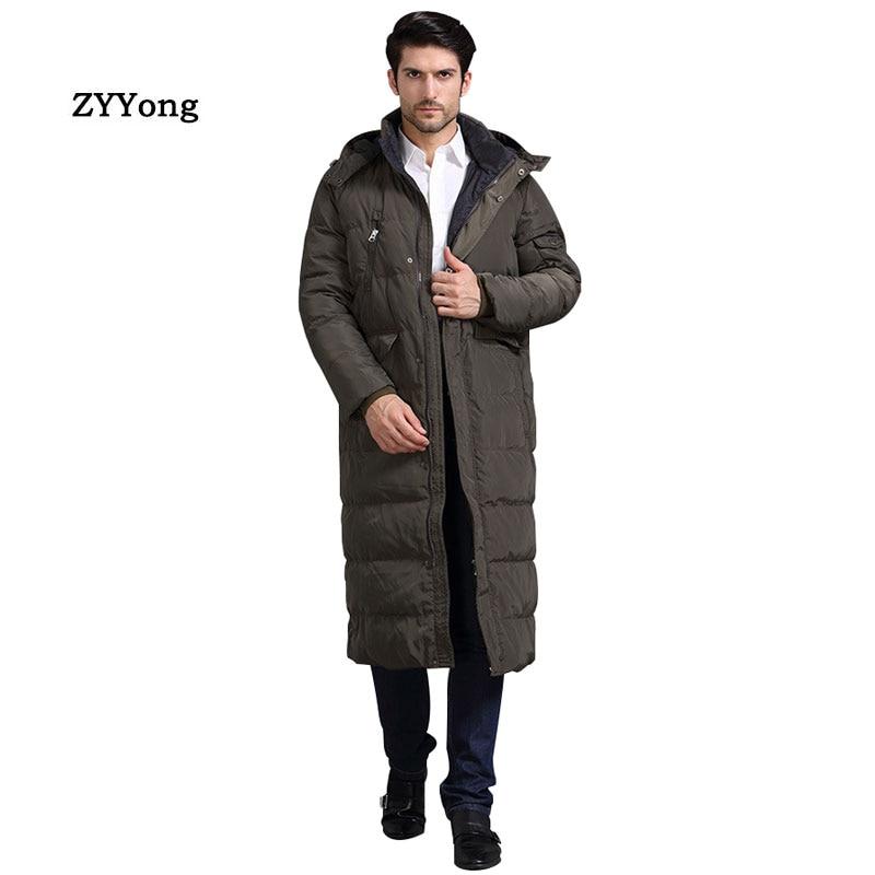 Новинка 2020, мужская длинная куртка, пальто, роскошная брендовая зимняя однотонная черная парка ArmyGreen, мужская модель 4XL, Толстая теплая облег...