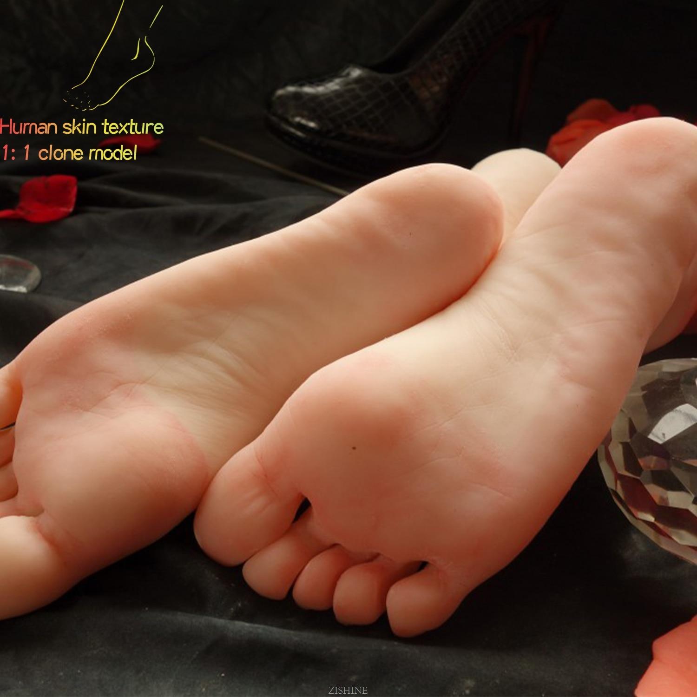 Силиконовая модель ноги Lifesize Женская 11 Реалистичная девушка клонированная для художественного эскиза Маникюр практика кино реквизит