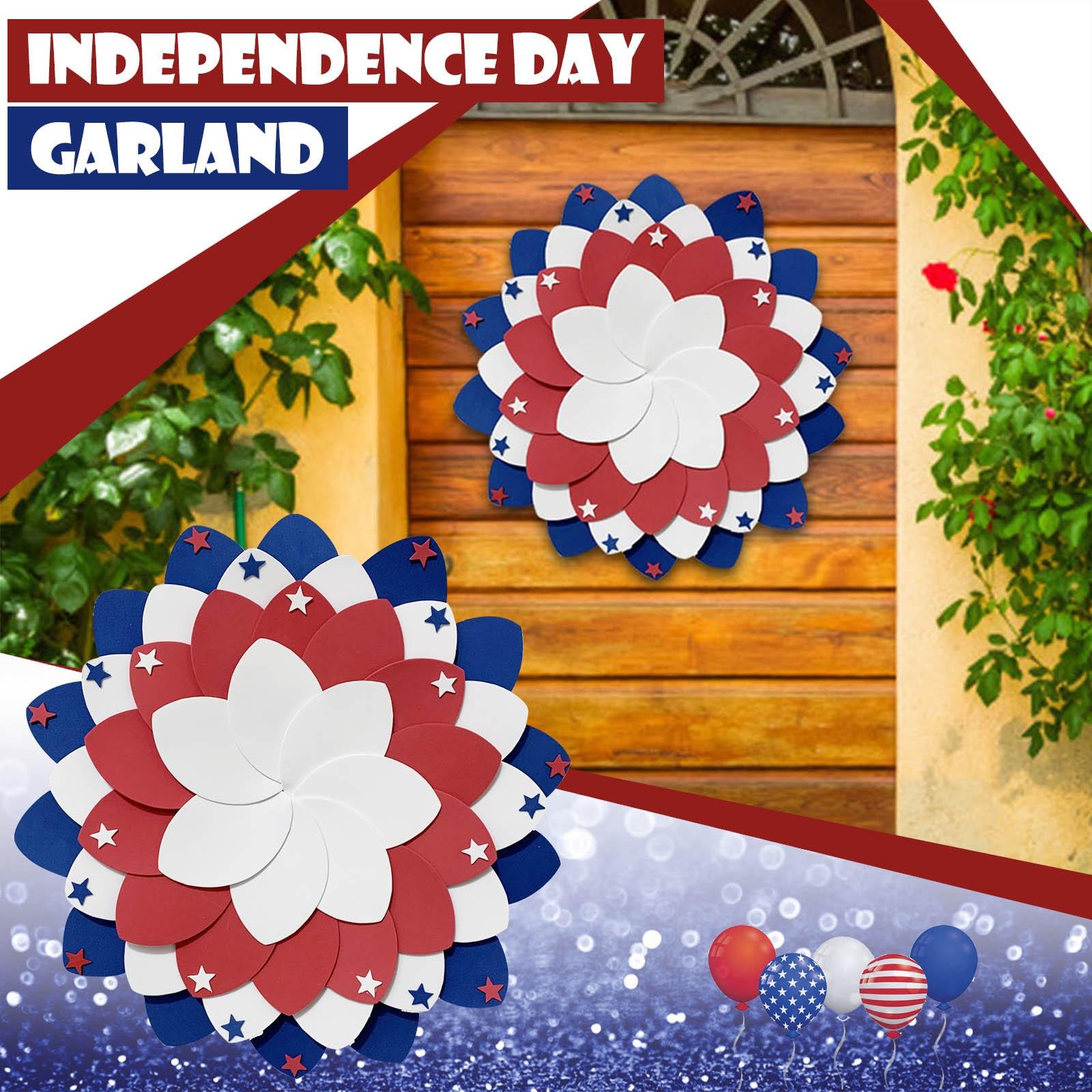 Guirnalda colgante de puerta para el día de la independencia de los...