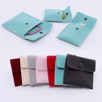 jewelry bag flip cover concealed buckle double sided flannel bag jewelry storage bag gift packaging small cloth bag