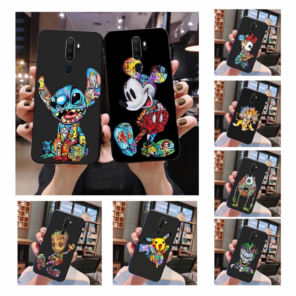 NBDRUICAI marvel Groot Joker Stitch чехол черный мягкий чехол для телефона Oppo A5 A9 2020 A11x A71 A73S A1K A83 чехол