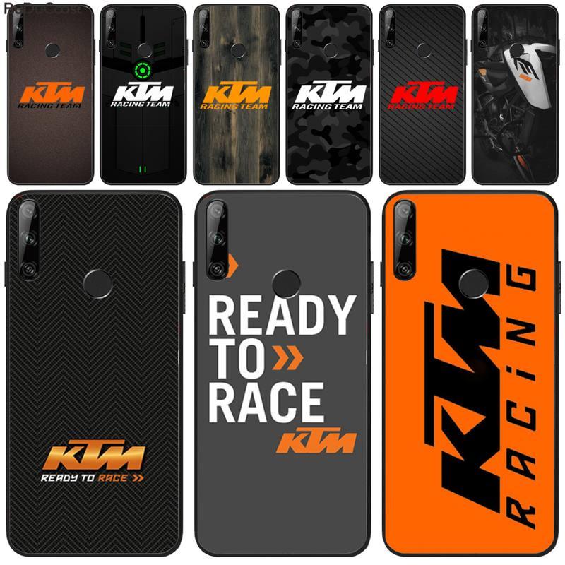 Motorcycle brand logo KTM Black TPU Soft Phone Case Cover For Huawei Y5 Y6 Y7 Y9 Prime Pro II 2019 2018 Honor 8 8X 9 lite View9