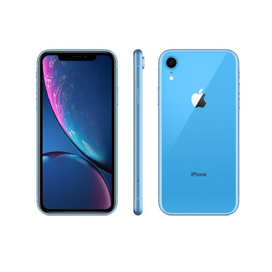 All Tested Good Used Original iPhone XR Smartphones 6.1inch A12 Face Unlocked 64/128/256GB Cellphones LTE 4G 7+12MP Mobile Phone