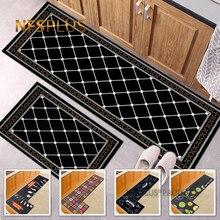 Geometric Kitchen Carpet Floor Mat Rugs Polyester Fiber Printed Home Decorative Anti-Slip Hallway Door Mats Entrance Doormat
