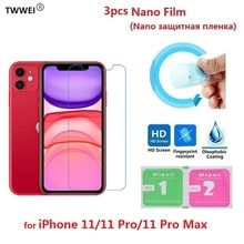 3pcs Protective Film on the for iPhone 11 Pro Max Screen Protector Film Foil (Not Tempered Glass)