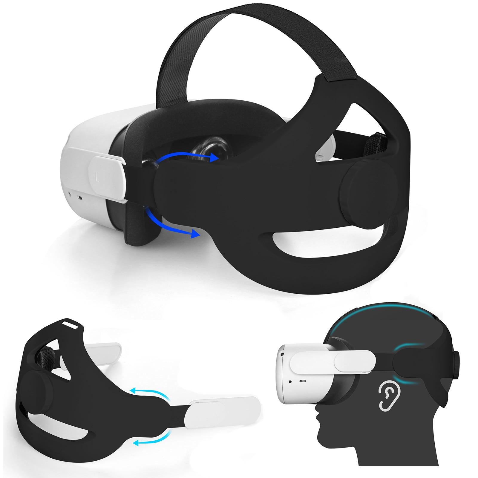 2021 هالو حزام قابل للتعديل شريط للرأس ل كوة كويست 2 VR النخبة حزام الواقع الافتراضي دعم قوة ل كويست 2 الملحقات