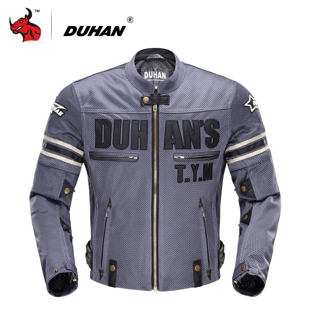 DUHAN-جاكيت دراجة نارية للرجال ، ملابس صيفية ، قماش شبكي مسامي ، للرحلات والسباقات