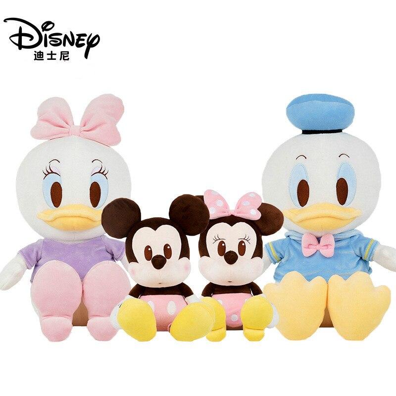 Disney Mickey Minnie peluche muñeca de juguete Linda almohada Donald pato Margarita Mickey Mouse muñeca familia decoración niño cumpleaños regalo 2