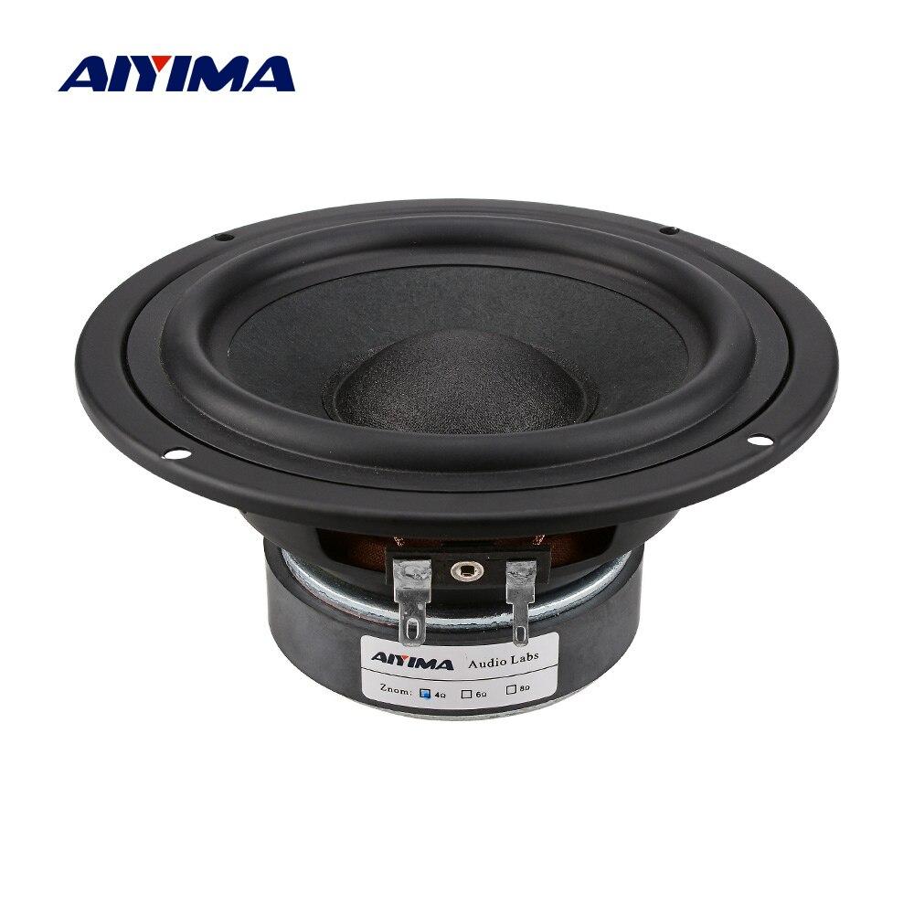AIYIMA 1 قطعة 5.25 بوصة مكبر الصوت المتكلم سائق 4 8 أوم 30-50W باس مكبر الصوت الصوت المتكلم العمود 88DB DIY 5.1 المسرح المنزلي
