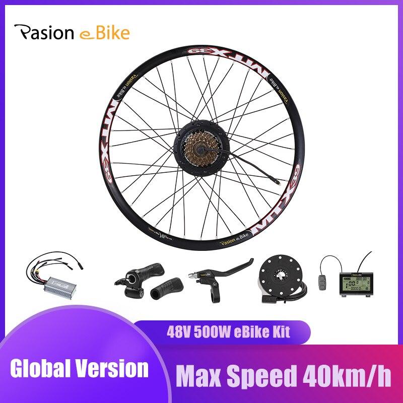 E BIKE Conversion Kit 48V 500W with Bafang Hub Motor Set For Electric Bike Conversion Kit with BAFANG Engine Rear Wheel Motor