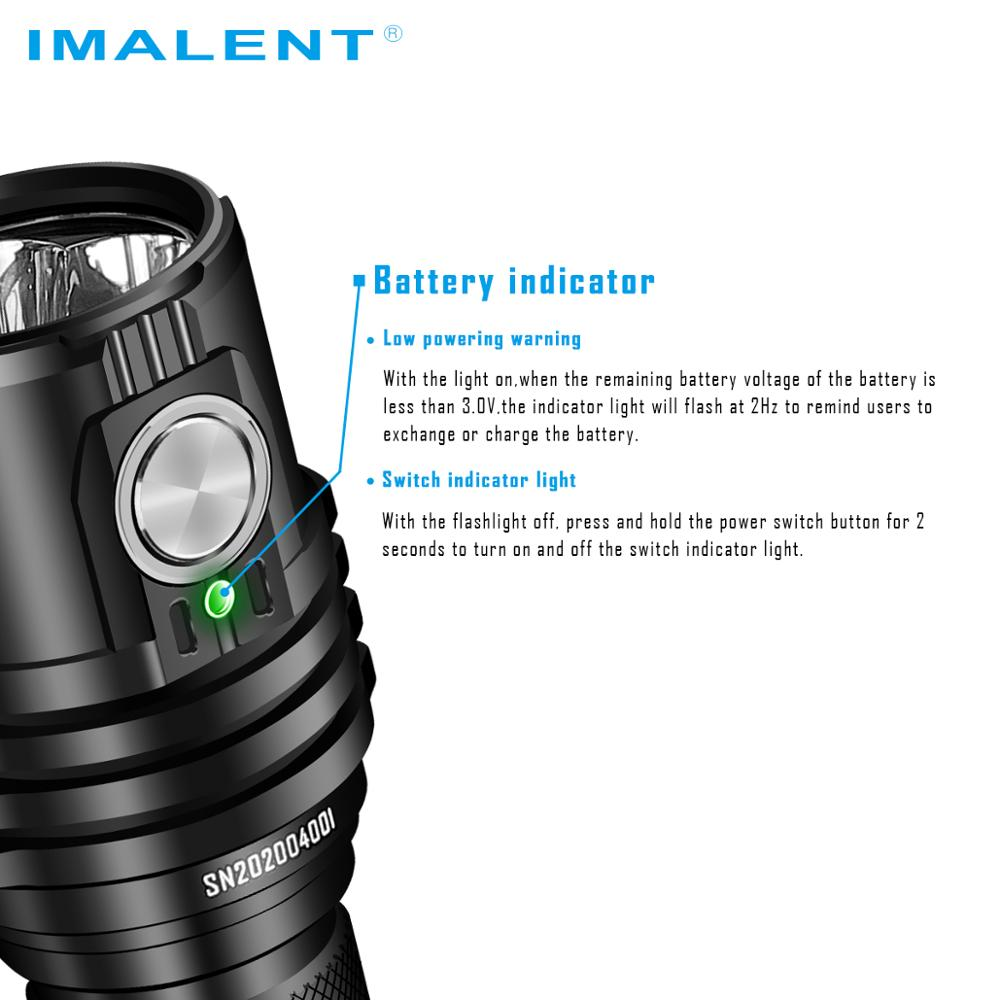 IMALENT MS03 Powerful Flashlight Tactical EDC Torch Bright Lantern13000 Lumens CREE XHP70.2 LED Waterproof Outdoor Lighting enlarge
