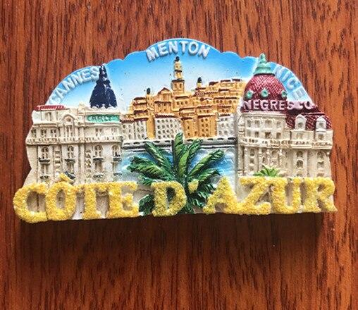 Vienna Prague Germany Czech San Marino Korea Hanbok Jerusalem Singapore Golden Fishtail Lion Resin Refrigerator Magnets Stickers  - buy with discount