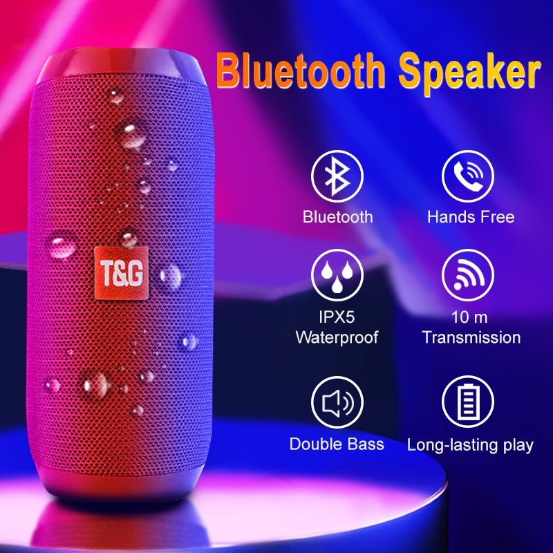 Водонепроницаемый Bluetooth динамик портативный беспроводной динамик s сабвуфер Открытый громкий динамик стерео музыка объемный TF fm-радио с микрофоном