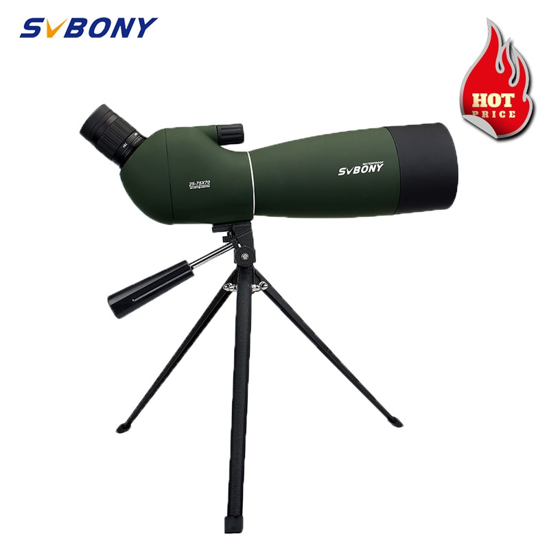 SVBONY SV28 تلسكوب 25-75x70 نطاق الإكتشاف أحادي العين مناظير قوية Bak4 المنشور FMC عدسة مقاوم للماء ث/ترايبود للصيد