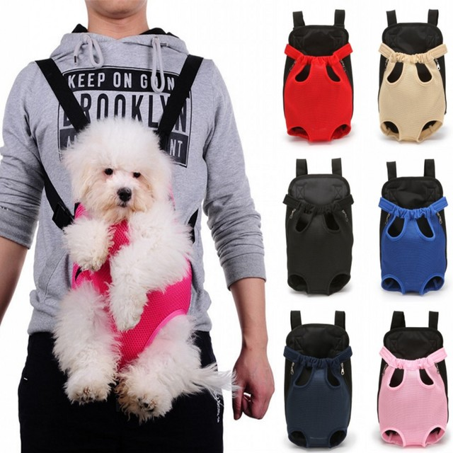 Breathable Mesh Pet Dog Carrier Backpack Outdoor Travel Products Bags For Small Dogs Cat Chihuahua Pet Double Shoulder Bag
