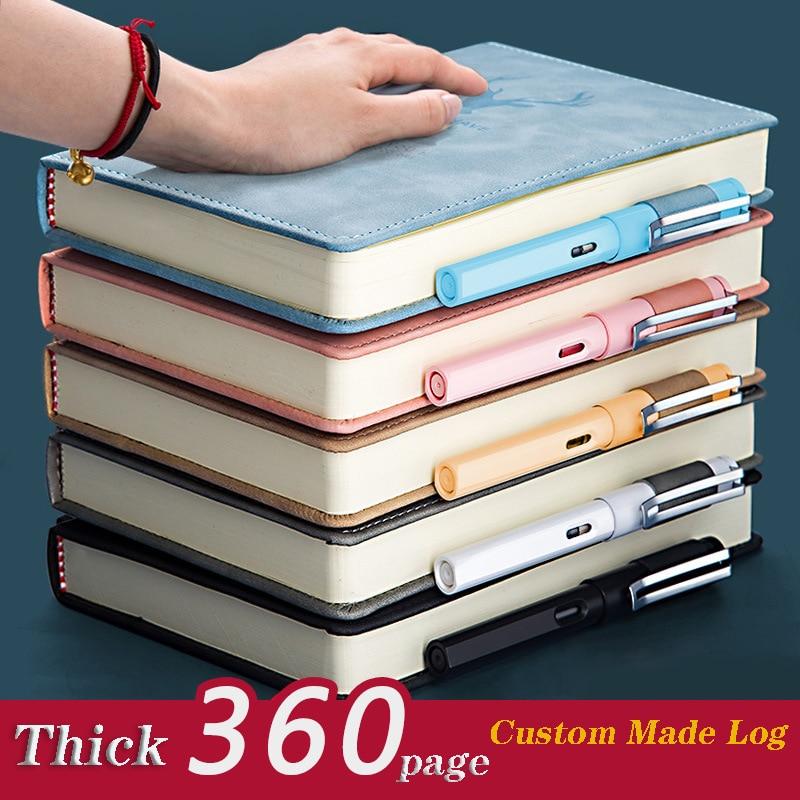 Новинка 2021, 360 страниц, супер толстый кожаный блокнот A5 для ежедневного бизнеса, офиса, работы, блокнот, блокнот, дневник, школьные принадлежн...