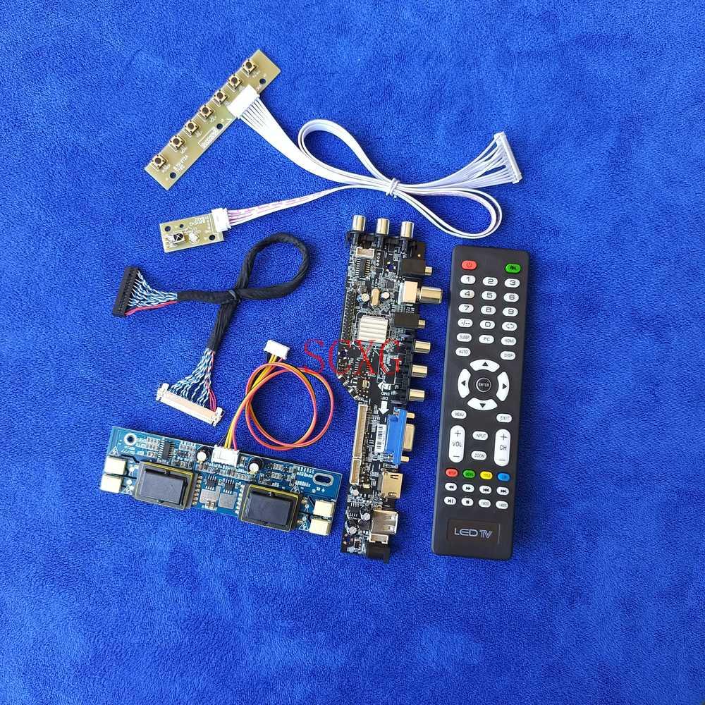 وحدة تحكم بشاشة إل سي دي مجلس 4CCFL 1280*1024 عدة 30 دبوس LVDS الرقمية DVB USB VGA AV HDMI-متوافق ل QD170E1LG02/QD170E1LG03/QD17EL07