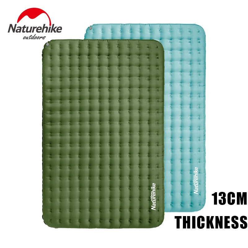 Naturehike 1.6 kg Inflatable Mattress 40D Nylon TPU 13CM Thicken 1-2 Persons Waterproof Layers Air Bed Wear Risistant Portable