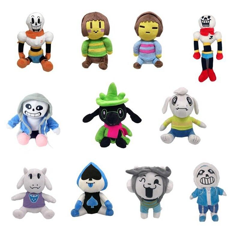 Undertale Plush Toy Doll Sans Frisk Chara Asriel Lancer Temmie Toriel Stuffed Toy Children Kids Birthday Gift