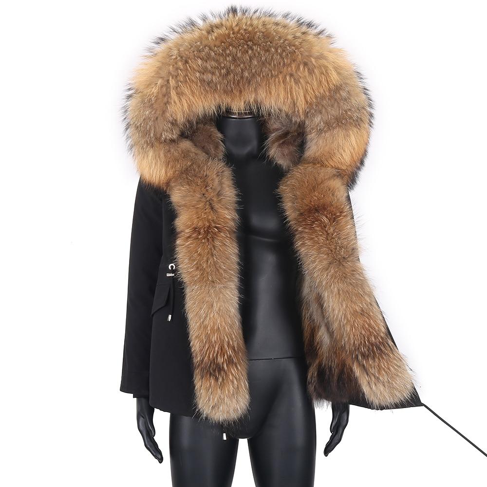 2021 الشتاء سترة الرجال ريال الراكون الفراء هود الثعلب الفراء اصطف سترة مضادة للماء معطف فضفاض دافئ ملابس ماركة غير رسمية
