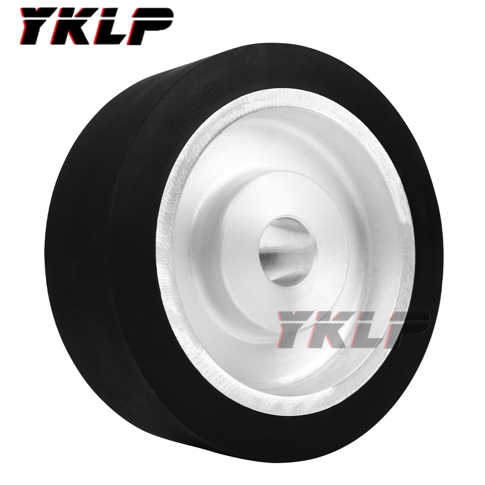300mm x50mm  Solid Belt Grinder Contact Wheel Dynamically Balanced Rubber Polishing Wheel Abrasive Sanding Belt Set