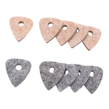Wool Blend Ukulele Picks Pack Of 10 Felt Plectrums With Hole Cream And Gray