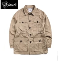 rt american retro hunter jacket mens multi pocket tooling jacket male spring and autumn tough guy mid length army windbreaker