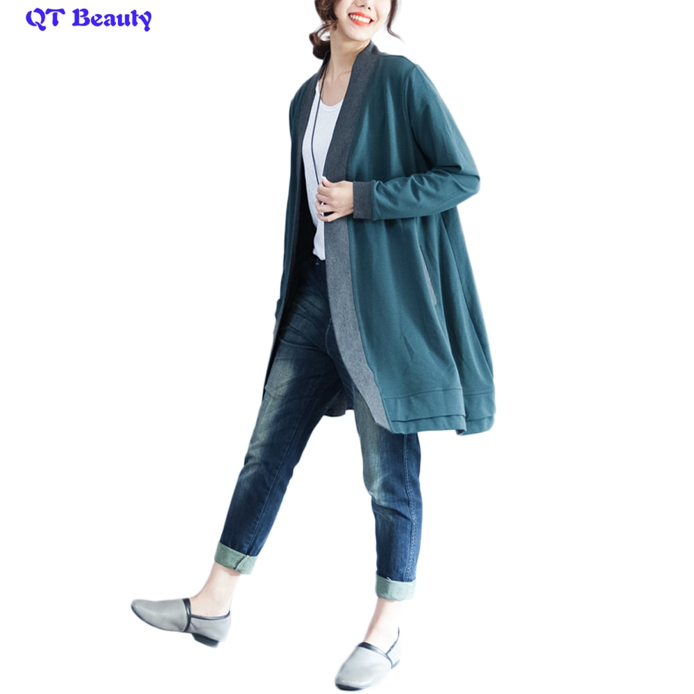 2019 Women Coat 2018 Winter X-Long Dark Green Jackets and Pure Overcoats With Pocket Cotton Warm Autumn Clothes