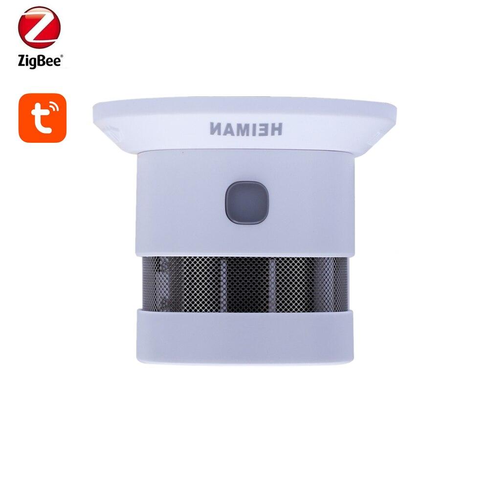 تويا زيجبي3.0 جهاز إنذار الحريق والكشف عن الدخان المنزل الذكي حساسية عالية منع الحريق الاستشعار CE14604 أثبتت